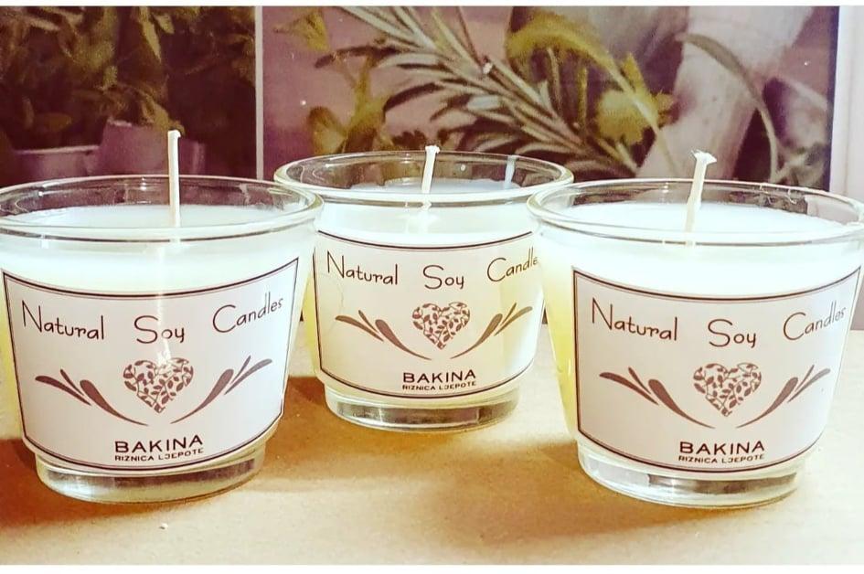 Sojina prirodna svijeća